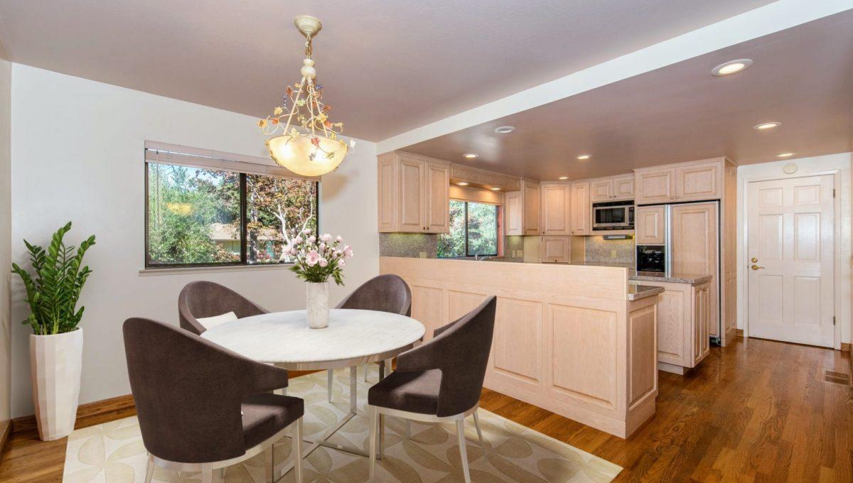 Staged Kitchen Nook